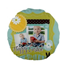 Easter By Easter   Standard 15  Premium Flano Round Cushion    Wio1t3izhpbe   Www Artscow Com Back