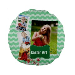 Easter By Easter   Standard 15  Premium Flano Round Cushion    0wb136tgk3he   Www Artscow Com Front