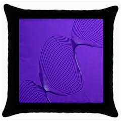 Twisted Purple Pain Signals Black Throw Pillow Case by FunWithFibro