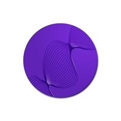 Twisted Purple Pain Signals Drink Coaster (round) by FunWithFibro