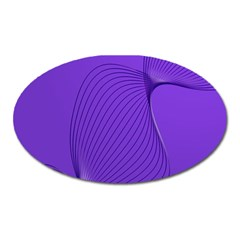 Twisted Purple Pain Signals Magnet (oval) by FunWithFibro