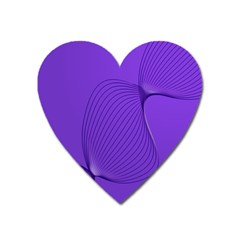 Twisted Purple Pain Signals Magnet (heart) by FunWithFibro