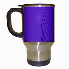 Twisted Purple Pain Signals Travel Mug (white) by FunWithFibro