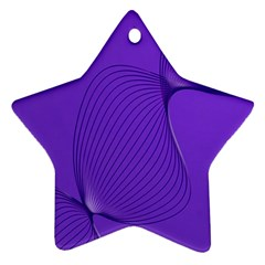 Twisted Purple Pain Signals Star Ornament (two Sides) by FunWithFibro