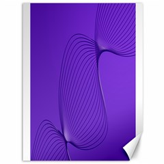Twisted Purple Pain Signals Canvas 36  X 48  (unframed) by FunWithFibro