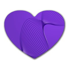 Twisted Purple Pain Signals Mouse Pad (heart) by FunWithFibro