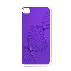 Twisted Purple Pain Signals Apple Iphone 4 Case (white) by FunWithFibro