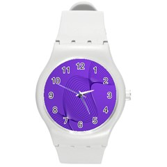 Twisted Purple Pain Signals Plastic Sport Watch (medium) by FunWithFibro