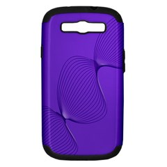 Twisted Purple Pain Signals Samsung Galaxy S Iii Hardshell Case (pc+silicone) by FunWithFibro