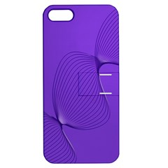 Twisted Purple Pain Signals Apple Iphone 5 Hardshell Case With Stand by FunWithFibro