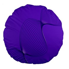 Twisted Purple Pain Signals 18  Premium Flano Round Cushion  by FunWithFibro