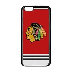 Chicago Blackhawks Jersey Textured Device Case Apple iPhone 6 Black Enamel Case by blueshirtdesigns