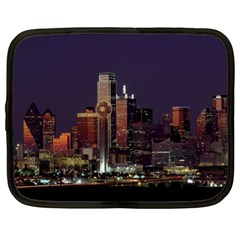 Dallas Skyline At Night Netbook Sleeve (xl) by StuffOrSomething