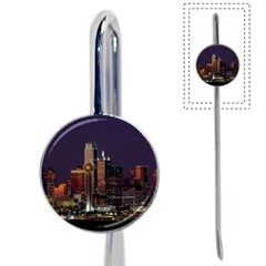 Dallas Skyline At Night Bookmark by StuffOrSomething