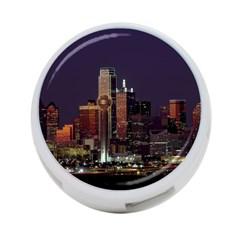Dallas Skyline At Night 4 Port Usb Hub (one Side) by StuffOrSomething