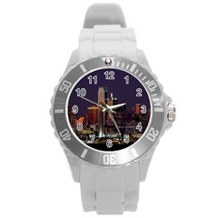 Dallas Skyline At Night Plastic Sport Watch (large) by StuffOrSomething