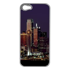 Dallas Skyline At Night Apple Iphone 5 Case (silver) by StuffOrSomething