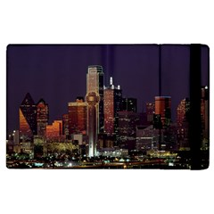 Dallas Skyline At Night Apple Ipad 2 Flip Case by StuffOrSomething