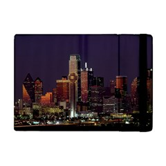Dallas Skyline At Night Apple Ipad Mini Flip Case by StuffOrSomething