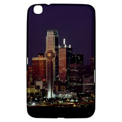 Dallas Skyline At Night Samsung Galaxy Tab 3 (8 ) T3100 Hardshell Case  by StuffOrSomething
