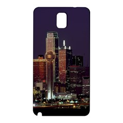 Dallas Skyline At Night Samsung Galaxy Note 3 N9005 Hardshell Back Case by StuffOrSomething