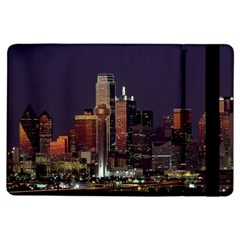 Dallas Skyline At Night Apple Ipad Air Flip Case by StuffOrSomething