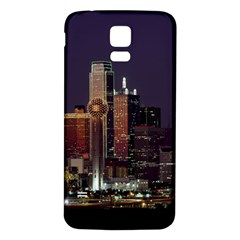 Dallas Skyline At Night Samsung Galaxy S5 Back Case (white) by StuffOrSomething