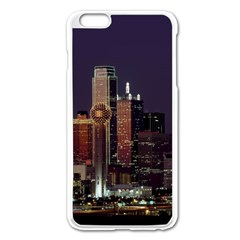 Dallas Skyline At Night Apple Iphone 6 Plus Enamel White Case by StuffOrSomething