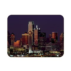 Dallas Skyline At Night Double Sided Flano Blanket (mini) by StuffOrSomething
