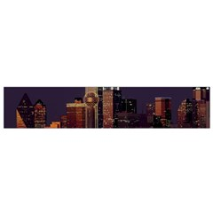 Dallas Skyline At Night Flano Scarf (small) by StuffOrSomething
