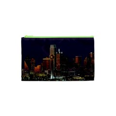 Dallas Skyline At Night Cosmetic Bag (xs)