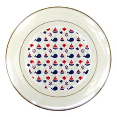 Nautical Sea Pattern Porcelain Display Plate by StuffOrSomething
