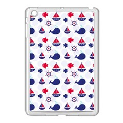 Nautical Sea Pattern Apple Ipad Mini Case (white) by StuffOrSomething