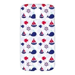 Nautical Sea Pattern Samsung Galaxy S4 I9500/i9505 Hardshell Case by StuffOrSomething