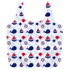 Nautical Sea Pattern Reusable Bag (xl) by StuffOrSomething