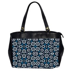 Floral Print Seamless Pattern In Cold Tones  Oversize Office Handbag (two Sides) by dflcprints