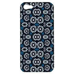 Floral Print Seamless Pattern In Cold Tones  Apple Iphone 5 Hardshell Case by dflcprints