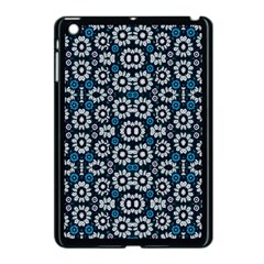 Floral Print Seamless Pattern In Cold Tones  Apple Ipad Mini Case (black) by dflcprints