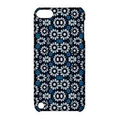 Floral Print Seamless Pattern In Cold Tones  Apple Ipod Touch 5 Hardshell Case With Stand by dflcprints
