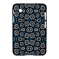 Floral Print Seamless Pattern In Cold Tones  Samsung Galaxy Tab 2 (7 ) P3100 Hardshell Case  by dflcprints