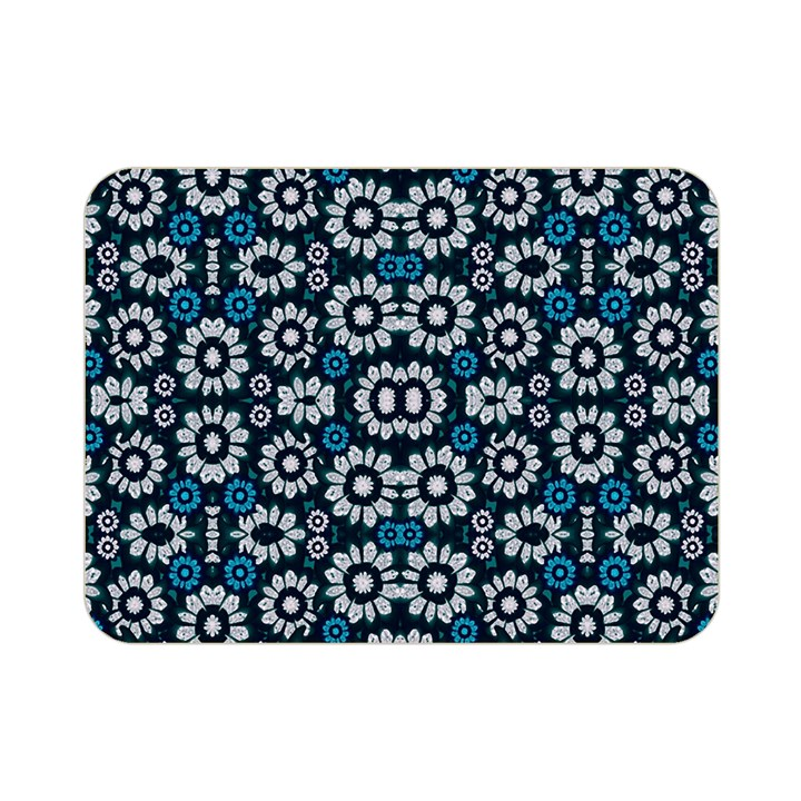 Floral Print Seamless Pattern in Cold Tones  Double Sided Flano Blanket (Mini)