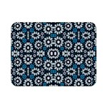 Floral Print Seamless Pattern in Cold Tones  Double Sided Flano Blanket (Mini) 35 x27 Blanket Back