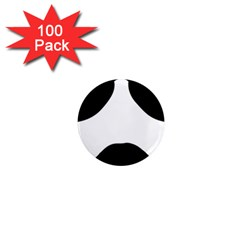 Aviators Tache 1  Mini Button Magnet (100 Pack)