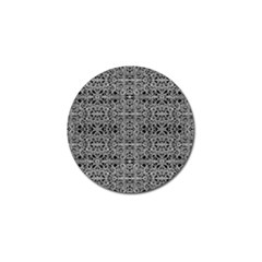 Cyberpunk Silver Print Pattern  Golf Ball Marker 4 Pack by dflcprints