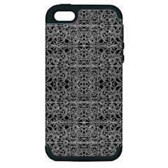 Cyberpunk Silver Print Pattern  Apple Iphone 5 Hardshell Case (pc+silicone) by dflcprints