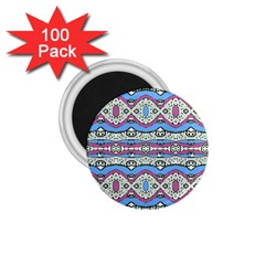 Aztec Style Pattern In Pastel Colors 1 75  Button Magnet (100 Pack) by dflcprints