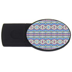 Aztec Style Pattern In Pastel Colors 2gb Usb Flash Drive (oval) by dflcprints