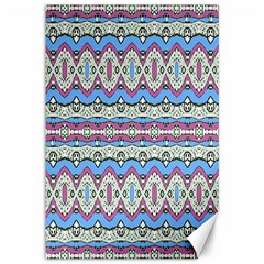 Aztec Style Pattern In Pastel Colors Canvas 12  X 18  (unframed) by dflcprints