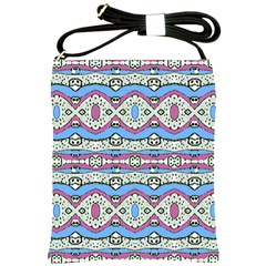 Aztec Style Pattern In Pastel Colors Shoulder Sling Bag by dflcprints