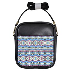Aztec Style Pattern In Pastel Colors Girl s Sling Bag by dflcprints